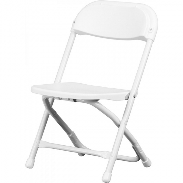 Kids' White Plastic Folding Chair