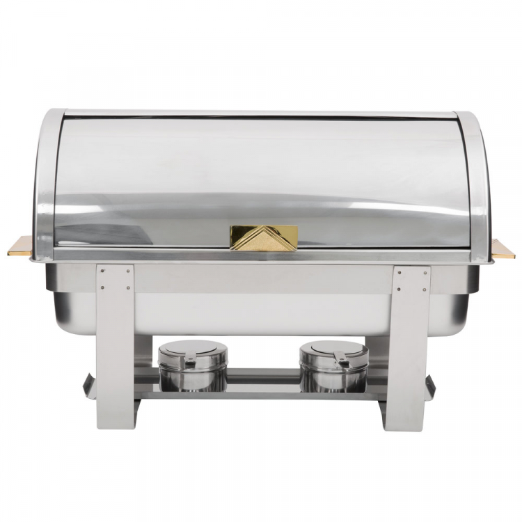 CHAFING DISH 8 QUART DELUXE ROLL TOP