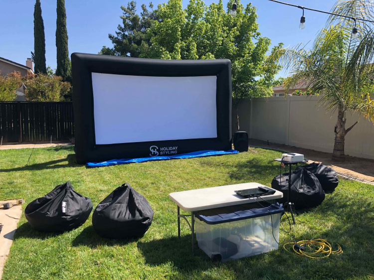 BACKYARD HOME THEATER SYSTEM - EVENING USE ONLY!