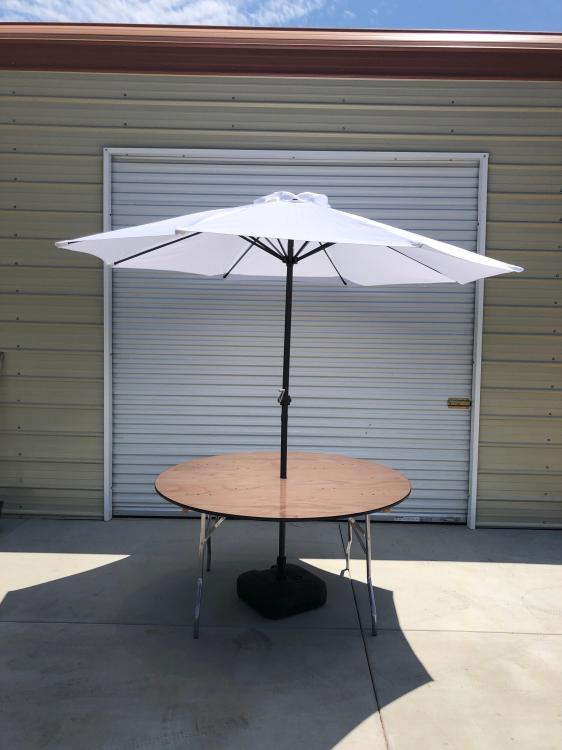 MARKET TABLE WITH UMBRELLA/BASE