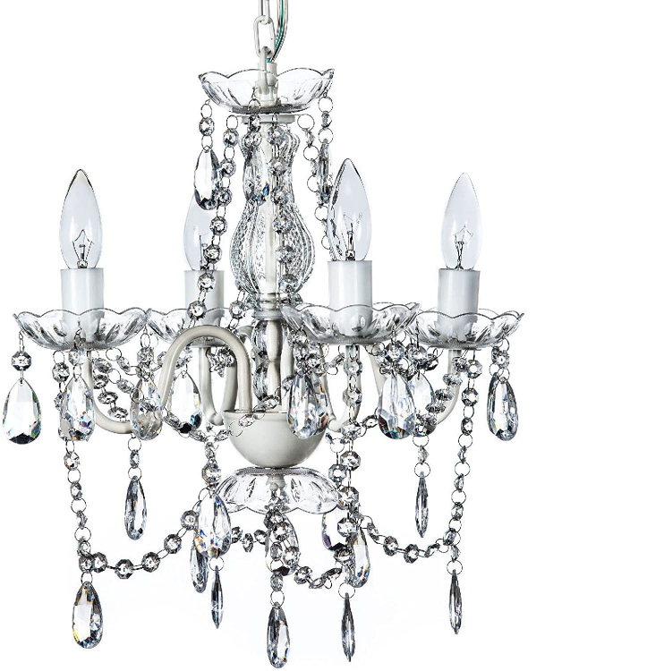 4 LIGHT CHANDELIER - WHITE