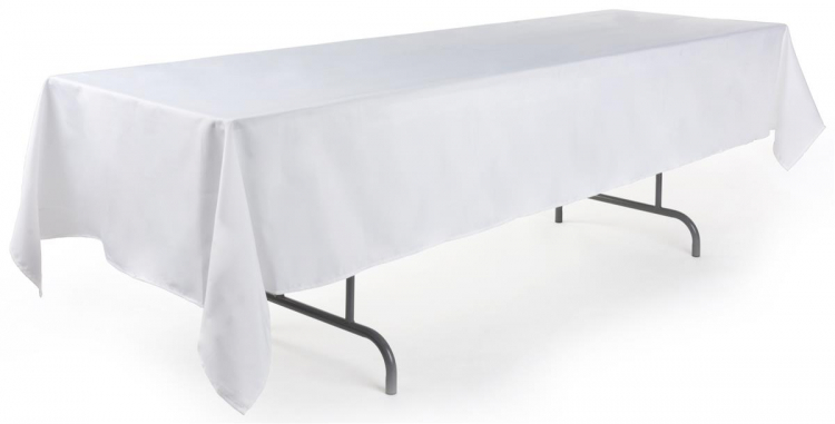 10' BANQUET LINEN (126x60) - White