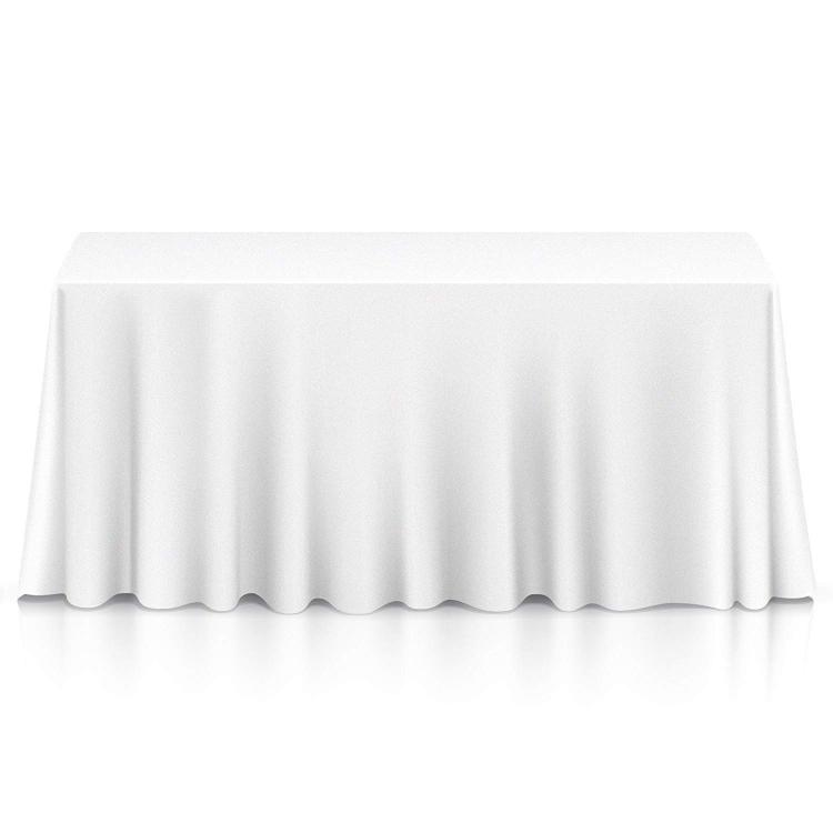 6' TABLE DRAPE LINEN (132x90) - WHITE