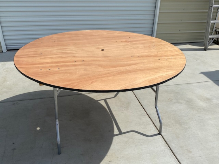 60 Round Wood Table